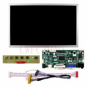 Tela lcd 10.1 ''1024x600 + controle vga, placa de driver de áudio dvi hdmi, monitor lvds 30 painel de pinos