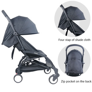Image 3 - Stroller Sun Cover And Cushion Oxford Cloth Back Zipper Pocket Baby Stroller Accessories For Yoya Baby Throne Babytime Stroller