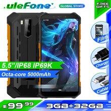 Ulefone Rüstung X5 Smartphone MT6762 Octa Core IP68 Wasserdichte Android 10 Gesicht Entsperren 3GB 32GB OTG NFC 4G LTE Globale Version Telefon
