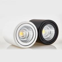 Вращающийся COB светодиодный потолочный светильник поверхностного монтажа цилиндрические потолочные лампы 7 Вт 10 Вт 15 Вт 20 Вт для спальни гостиной магазин одежды