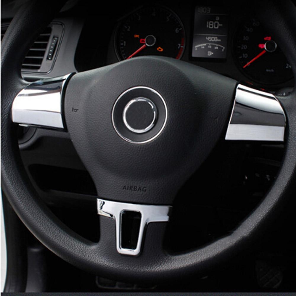Подходит для Volkswagen VW Golf 6 MK6 Polo Jetta MK5 MK6 2009 2010 2011 Polo bora украшение рулевого колеса автомобиля блестки покрытие наклейка