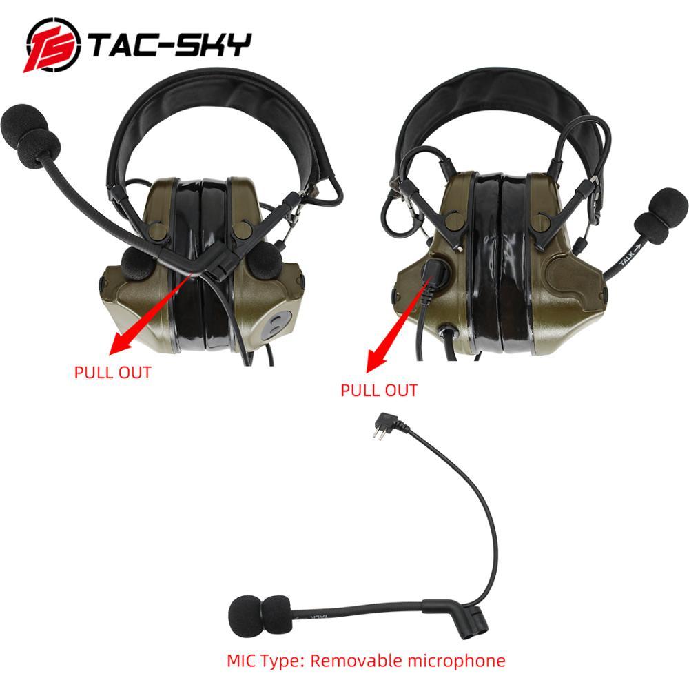 Купить с кэшбэком COMTAC II TAC-SKY comtac ii silicone earmuffs hearing defense noise reduction pickup military tactical headset FG