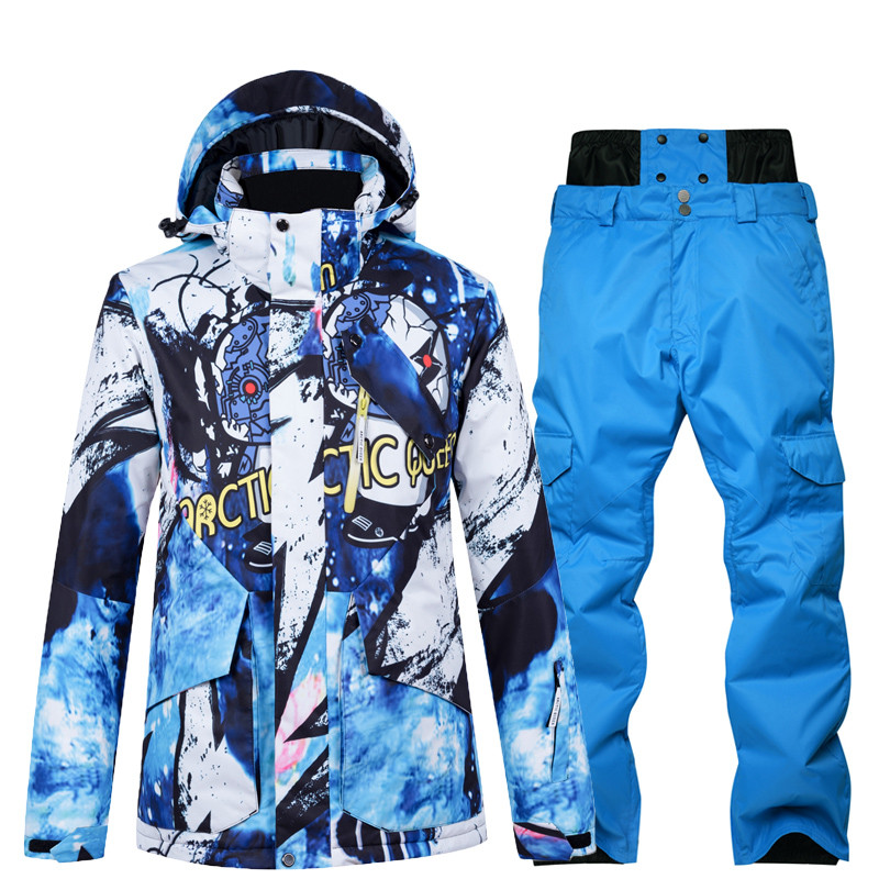 Ski Suit Winter Men Ski Jacket And Pants Sets For Men Warm Waterproof Windproof Skiing And Snowboarding Suits Male Ski Coat Male