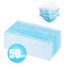 Hot Sale 50 Pcs Face Mouth Masks Non Woven Disposable Anti-Dust Surgical Earloops Masks