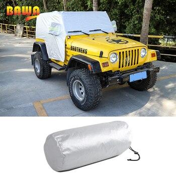 BAWA Car Cover Body Sun Rain Dustproof Waterproof Cover Sun UV Protection Shield Accessories For Jeep Wrangler TJ 1997-2006