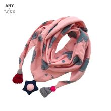 Baby Scarf Shawl Neckerchief Neck-Collars Triangle Girls Winter Kids Cotton Children