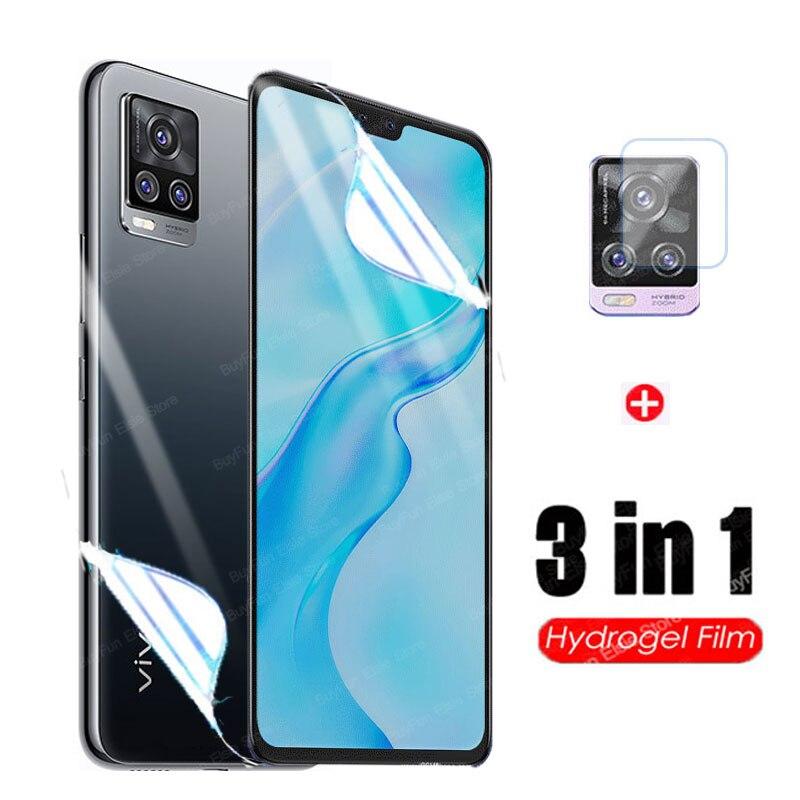 Гидрогелевая пленка для Vivo V20 Pro 5G, Защитная пленка для экрана Vivo V20 SE V20se, не стекло, 3 в 1