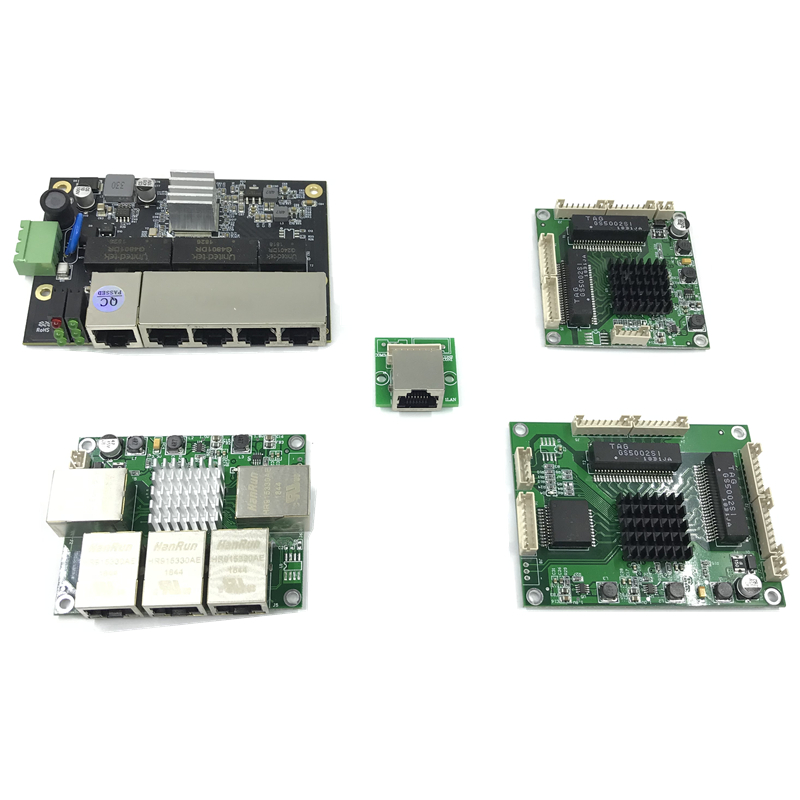 Industrial Ethernet Switch Module 5 Ports Unmanaged10/100/1000mbps  PCBA Board OEM Auto-sensing Motherboard Ports PCBA Board OEM
