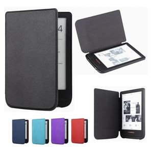 Gligle slim leather cover case for Pocketbook Touch lux 4 627 HD3 632 Basic2 616 Ereader +screen film free shipping(China)