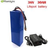 전자 자전거 LiFePO4 배터리 36V 30Ah 리튬 이온 배터리 팩 1000w bms 36v bafang 8fun bbs01 bbs02 모터