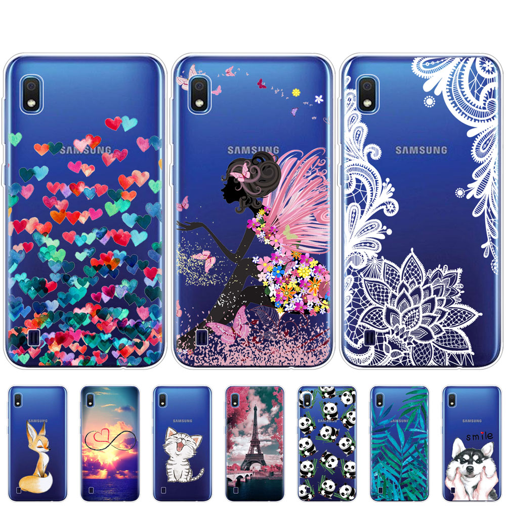 Case For <font><b>Samsung</b></font> <font><b>A10</b></font> Case cover Soft Silicone Phone <font><b>fundas</b></font> coque For <font><b>Samsung</b></font> Galaxy <font><b>A10</b></font> A 10 SM-A105F A105 A105F cartoon shells image