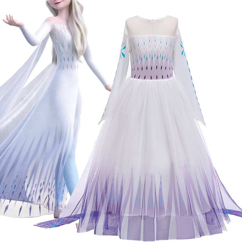 Anna Elsa Dress Kids Dresses For Girs Elsa Anna Costume Girls Clothing Christmas Cosplay Elsa Birthday Party Evening Party Dress