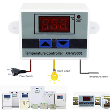 10A 12V 24V 220VAC Digital LED Temperature Controller XH W3001 For Incubator  Cooling Heating Switch Thermostat NTC Sensor on AliExpress