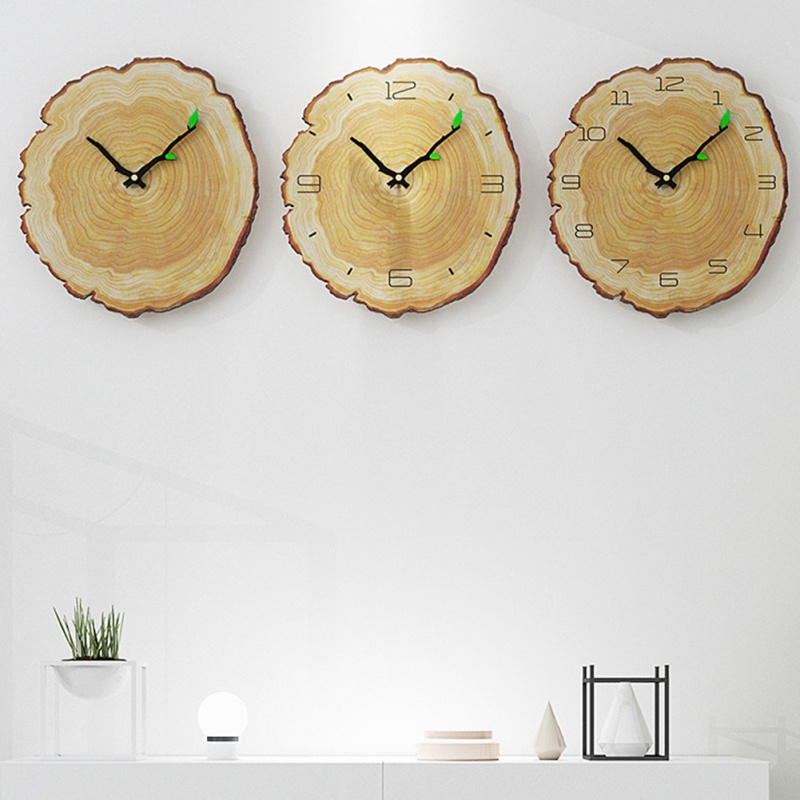 Vintage Wooden Wall Clock Cafe Office Home Kitchen Wall Decor Silent Clock Design Art Large Wall Clock Gift Decoration