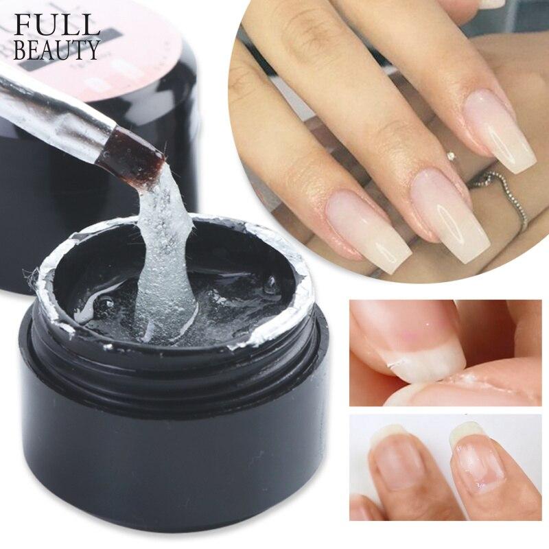Full Beauty Fiber Extension Repair Gel Clear Poly Builder For Nail Extension Acrylic Repair Broken Nail Forms Gel Polish CH1520