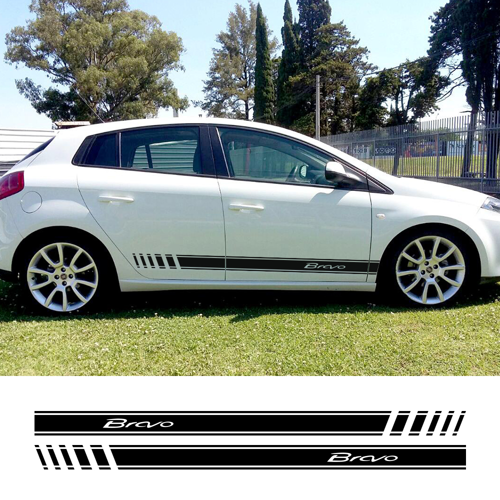 Car Stickers For Fiat Bravo Auto Vinyl Film Decoration Decals DIY Sports Styling Side Stripes Automobiles Car Tuning Accessories