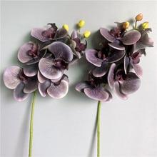 Искусственные орхидеи на ощупь, латексные цветы 6 цветов для домашнего декора гостиной