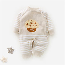 Infants Toddler Warm Knitting Romper Newborn Long-Sleeve Cartoon Cute Clothing Baby Kids Soft Cotton Comfortable Romper AA60794(China)
