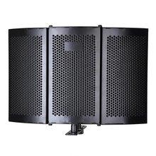 Folding Studio Microphone Isolation Shield Recording Sound Absorber Foam Panel Professional Recording Tool