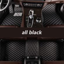 Hexinian piso automotivo personalizado, tapetes para carro para mitsubishi todos os modelos outlander pajero grandis asx pajero sport lancer galant lancer-ex