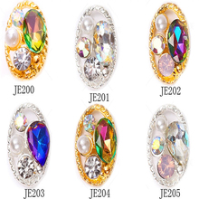 S! Shiny Nail Crystals Diamond Stones Gem White/Gold Jewelry Rhinestones For Art Decorations Luxury Designs Charm JE20