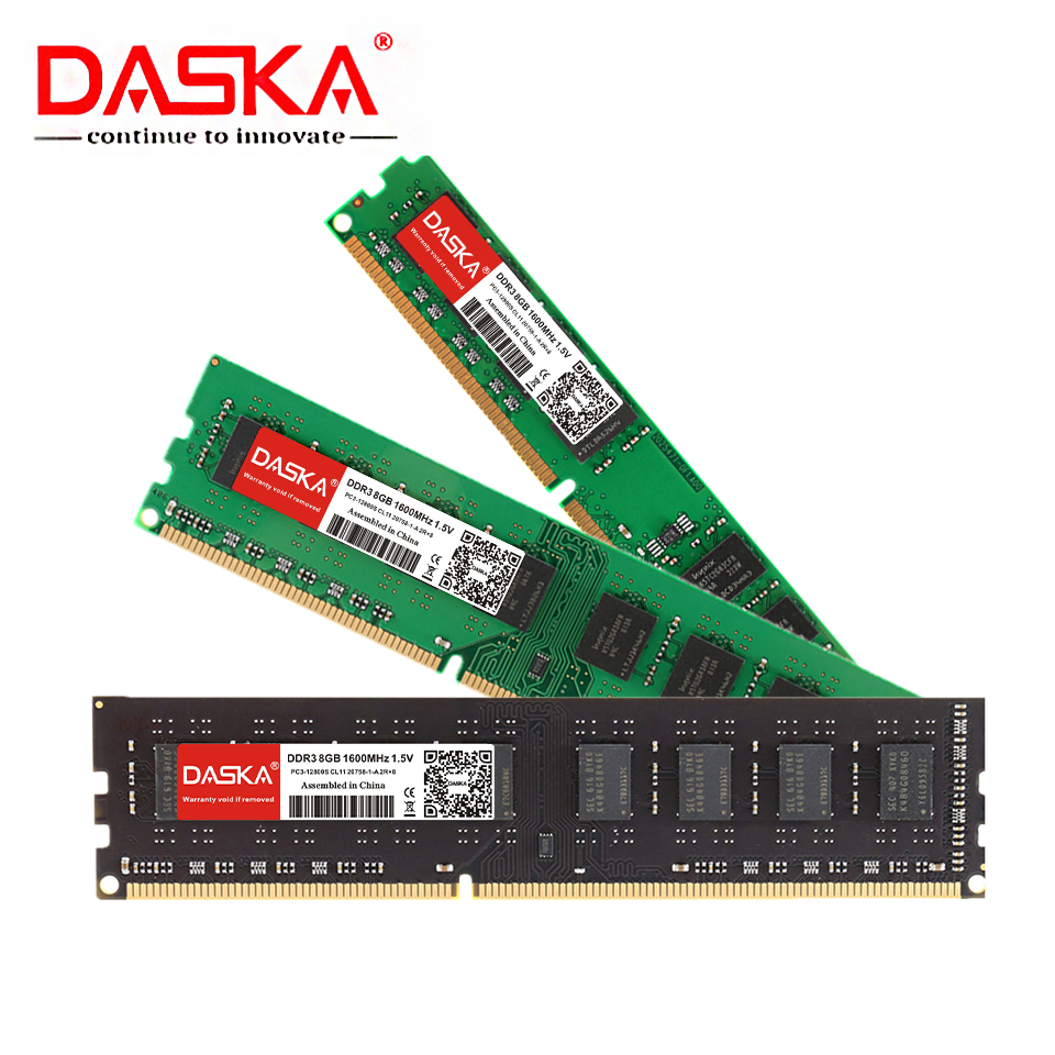 DASKA DDR3 Desktop Memory RAM with 8GB/4GB/2GB Capacity and 1600/1333MHz Speed 5
