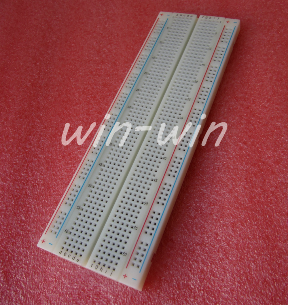 1 MB102 Breadboard 830-point Solderless PCB Breadboard Test Development Board Electronic Component Accessories L