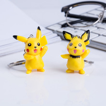 2 Pieces / Set of Cute Pikachu Keychain Creative Car Bag Key Chain Pendant Key Ring Couple Pikachu Key Accessories Toy Jewelry цена
