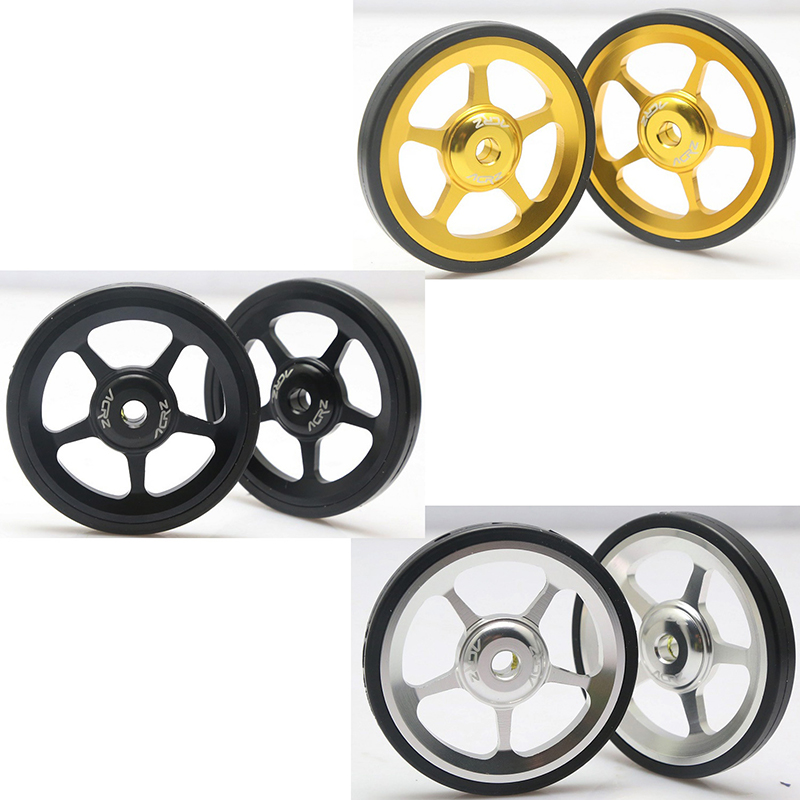 Attachment Easy Wheels 2 Pcs//set Aluminum Alloy For Brompton Modification Kits