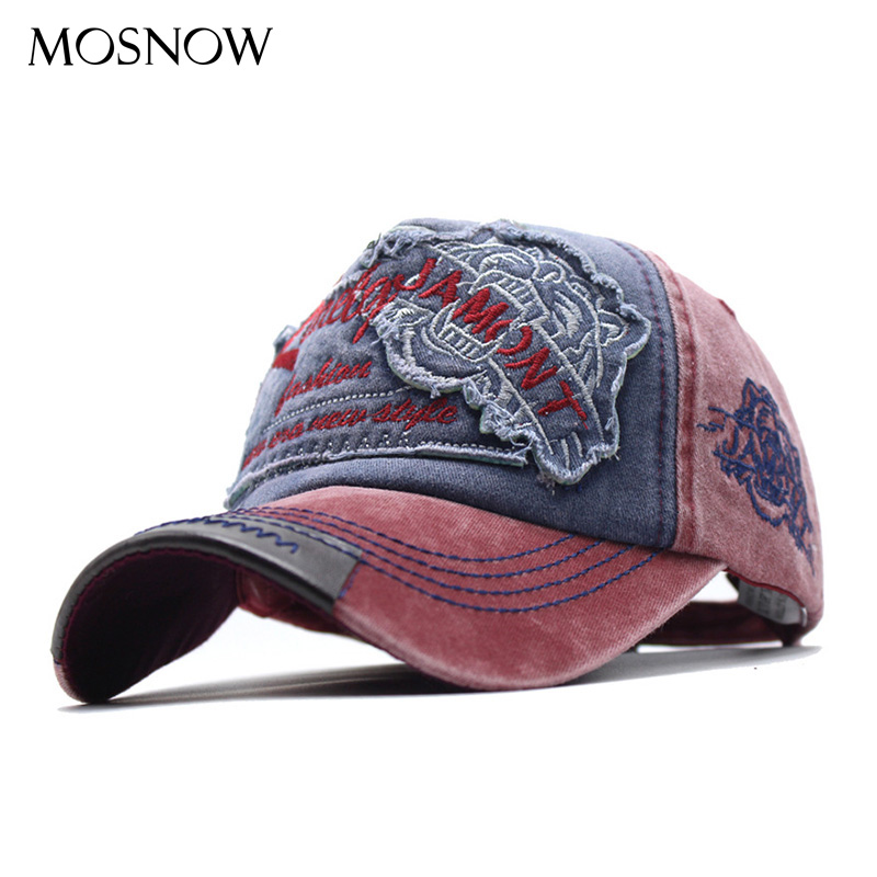 Men Baseball Caps Dad Casquette New Women Snapback Caps Bone Hats Washed Denim Vintage Hat Caps Adjustable Sun Visor Hat Gorras