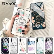 YIMAOC christian bible quotes jesus Glass Case for Xiaomi Redmi 4X 6A note 5 6 7 Pro Mi 8 9 Lite A1 A2 F1