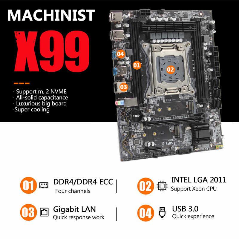 ماشينيست X99 سطح المكتب اللوحة LGA 2011-3 LGA2011-3 مع المزدوج M.2 NVME فتحة دعم أربع قنوات DDR4 ECC SATA3.0 USB3.0