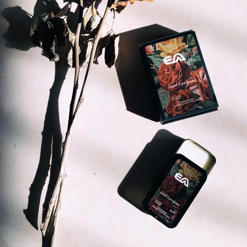 Portable Fragrance Solid Perfume Case Balm Mild Long Lasting Aroma Deodorant Vintage Perfume Cream Light Incense For Women Men