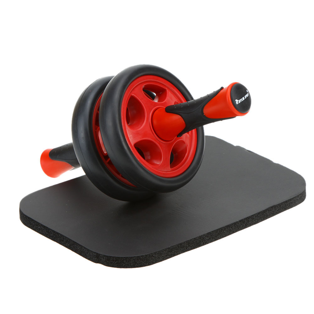 Rodillos Ab rueda Abdominal sin ruido rodillo Ab con estera para ejercicio equipo de Fitness estera de rueda Abdominal rojo gris - 6
