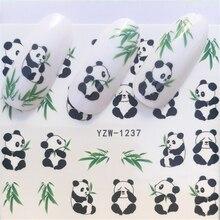LCJ 1 лист Бабочка/перо/цветок Дизайн ногтей водные переводные наклейки s милые животные Маникюр Стикер