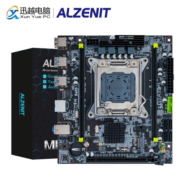 ALZENIT X99I-CE5 Motherboard Intel C612 X99 LGA 2011-3 Xeon E5 ECC REG DDR4 64GB M.2 NVME NGFF USB3.0 Mini-DTX Server Mainboard