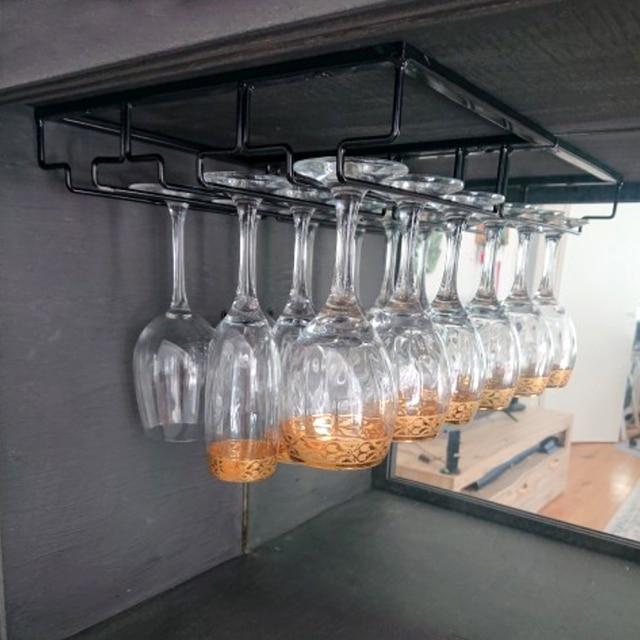 Overhead Hanging Wine Glass Holder 2