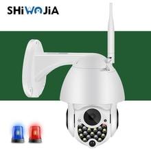 SHIWOJIA 1080P Outdoor Wifi PTZ Intelligent Surveillance Camera Video Sound Auto Tracking Cloud Home Security 4x Digital Zoom