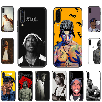 Rapper Hip-Hop 2pac Tupac Phone case For Samsung Galaxy A 3 5 8 9 10 20 30 40 50 70 E S Plus 2016 2017 2018 2019 black luxury image