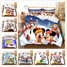 Christmas Bedding Set Mickey Minnie Duvet Cover Children Bed Queen King Size Gift Nightmare Before