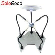 SoloGood светодиодный паяльная станция для рук пять HandsTool увеличительный Железный зажим увеличительного стекла для объектива Набор инструментов