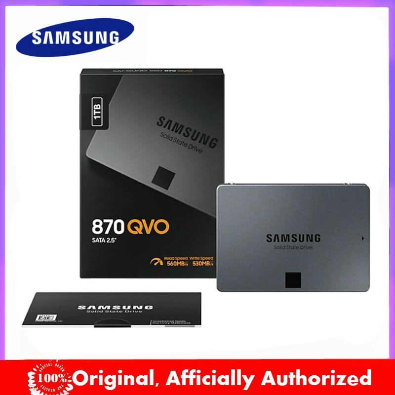 SAMSUNG оригинальный SSD 870 QVO ТБ 2 ТБ 4 ТБ Внутренний твердотельный диск 8 ТБ SATA 3 HDD жесткий диск Ноутбук Настольный ПК TLC жесткий диск