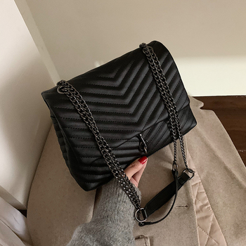 Fashion Designer Women Chain Pu Leather Shoulder Bag High Quality Ladies Crossbody Bags for Women Casual Small Messenger Bags fashion simple women s designer handbag 2020 high quality pu leather women messenger bag alligator shoulder crossbody bags black