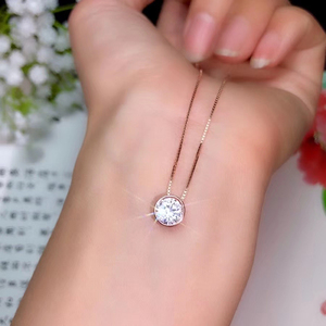 Image 5 - CoLife pendentif bijoux en argent 925, pendentif en argent pour jeunes filles, 1,2 ct, couleur F, Grade VVS1