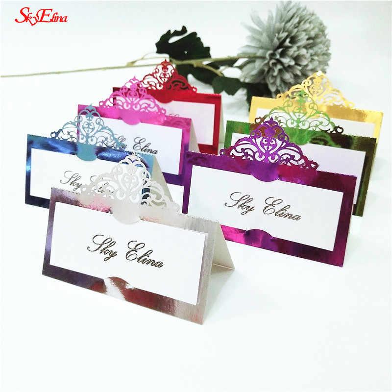 10 قطعة 9*9 سنتيمتر الليزر قطع الزفاف وضع علامة الجدول بطاقة مكان اسم بطاقة حفل زفاف الديكور لصالح 5Z SH873-10