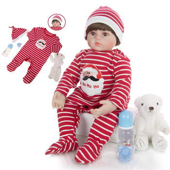 """Lifelike Reborn Doll Soft Silicone 24"""" 60cm Realistic  Girl Princess Lovely Baby Dolls For Kid Birthday Gift Toddler Toys"""
