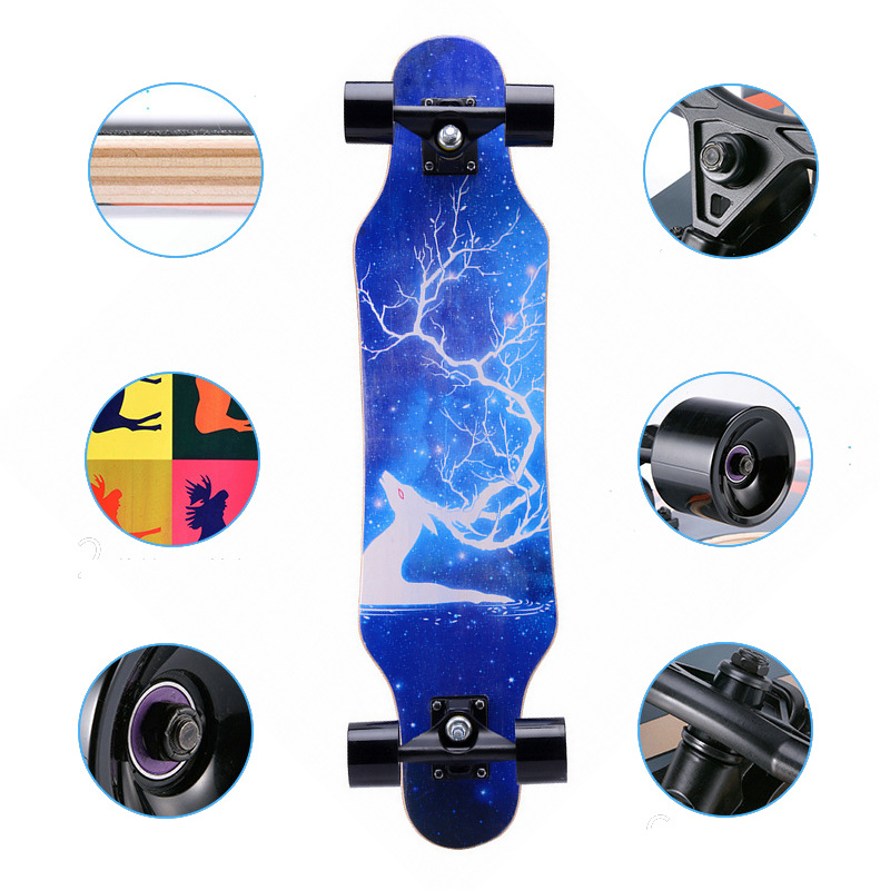 "Image 4 - 31"" Adult Kids Mini Complete Longboard Skateboard Maple Wood Deck Skate Board Mini Street Dancing Longboard-in Skate Board from Sports & Entertainment"