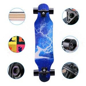 """Image 4 - 31 """"erwachsene Kinder Mini Komplette Longboard Flache Platte Skateboard Ahorn Holz Deck Skate Board Mini Straße Tanzen Longboard"""