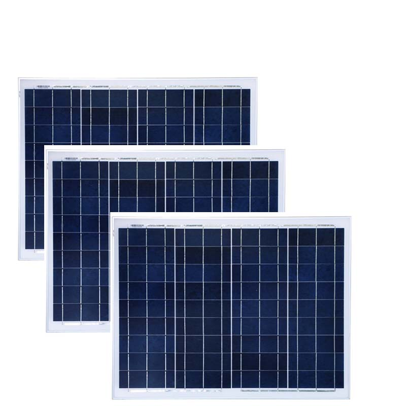 <font><b>Solar</b></font> <font><b>Panel</b></font> China 50w 12v 3 Pc Placas Solares <font><b>150w</b></font> Outdoor Rv Camping Caravan Car Boat Waterproof Motorhome Phone Battery Charge image