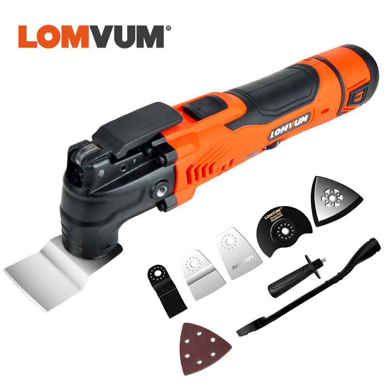 LOMVUM Multi-Function Electric Cutter Trimmer Electric Saw Renovator Tool Woodworking Oscillating Tools 300w Multimaster